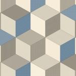 Dimensions Blue & Grey Cushioned Vinyl
