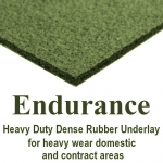 ENDURANCE 8mm Dense Rubber Carpet Underlay