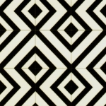 Kaleidoscope Black & White Cushioned Vinyl