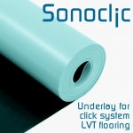 SONOCLIC underlay for use with LVT